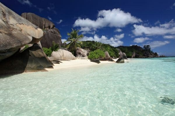 crystal-clear waters of the Indian Ocean