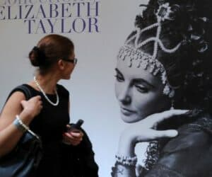 Elizabeth Taylor jewelry collection poster