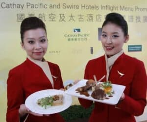 Cathay Pacific Swire Hotel inflight menu