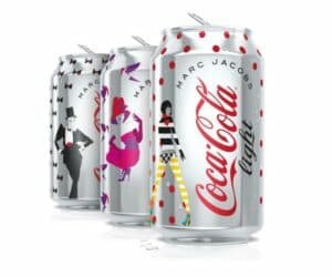 Marc Jacobs limited edition Diet Coke cans