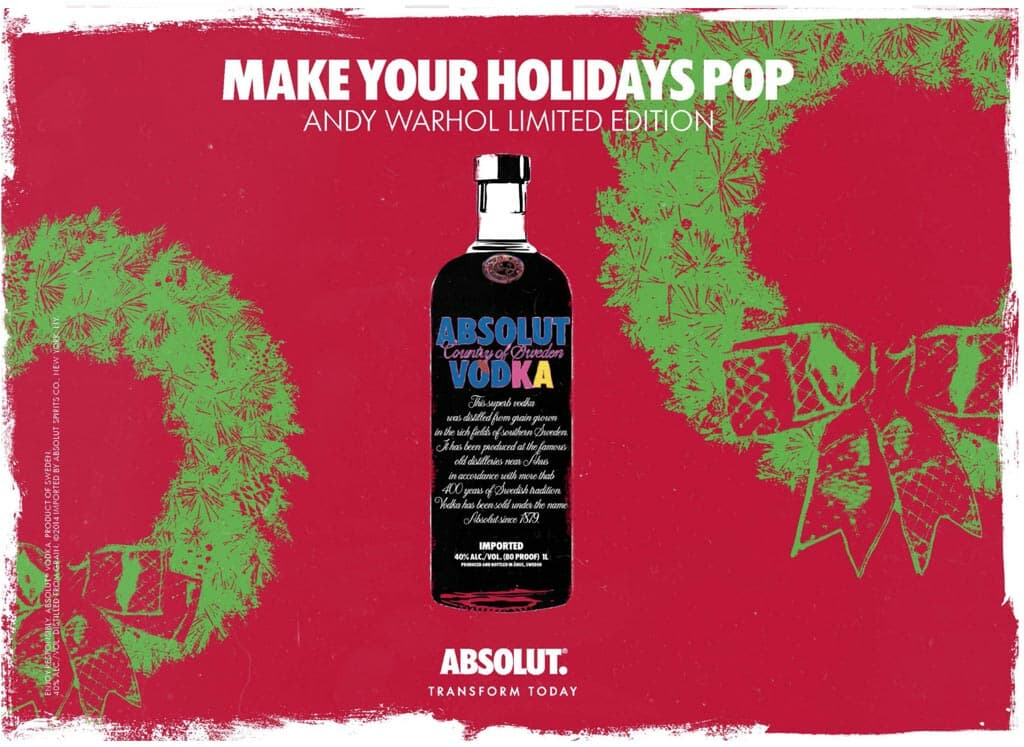 Absolut Andy Warhol ad