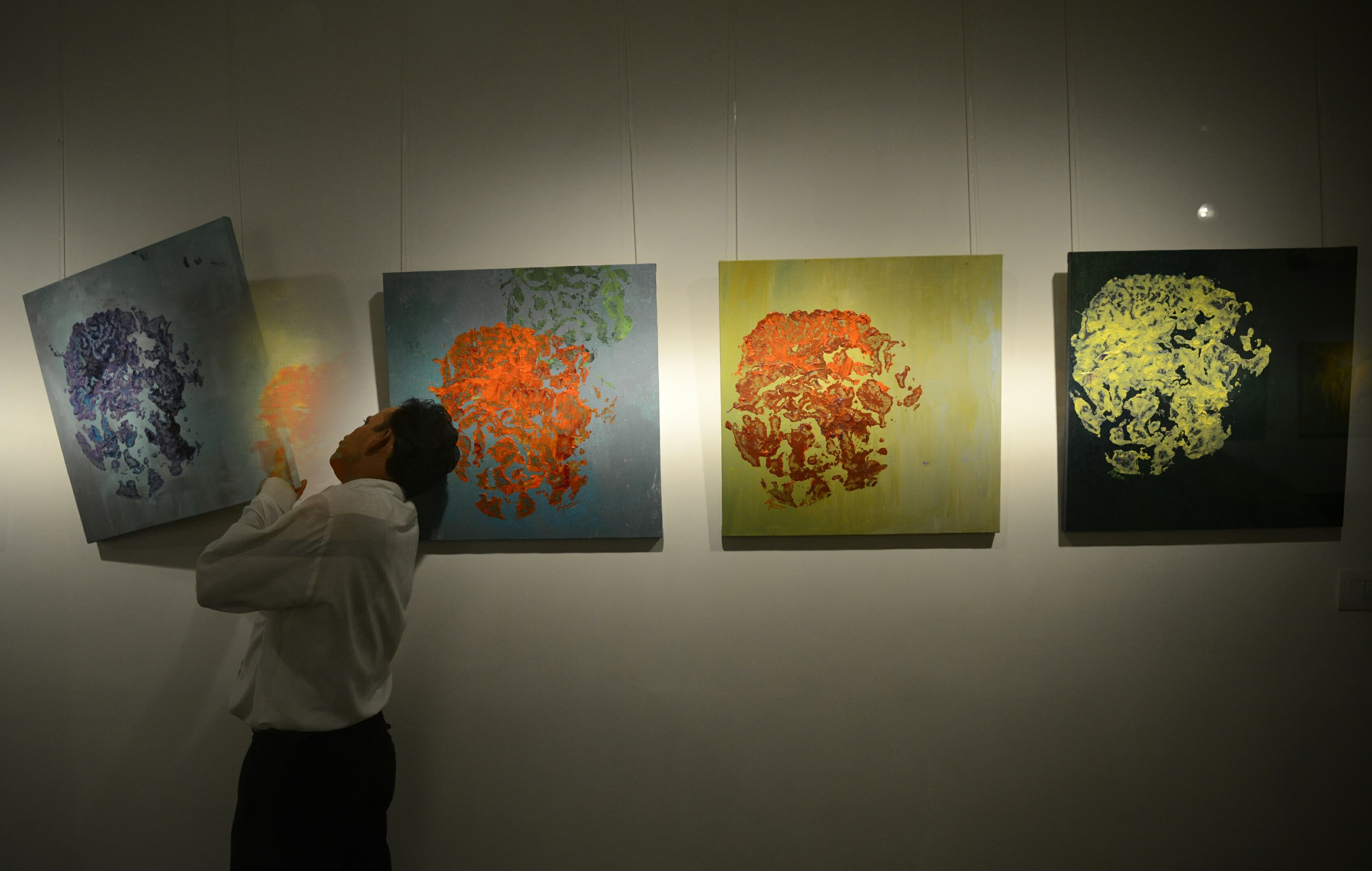 paintings by an Indian elephant