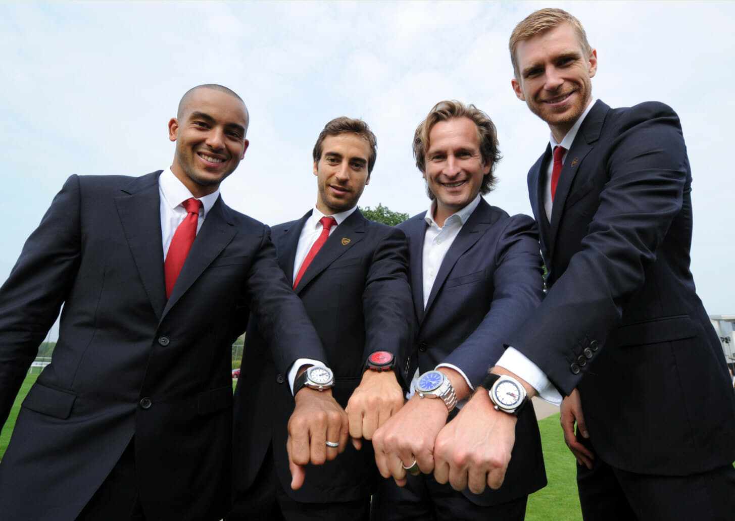 Bruno Grande and Arsenal FC players