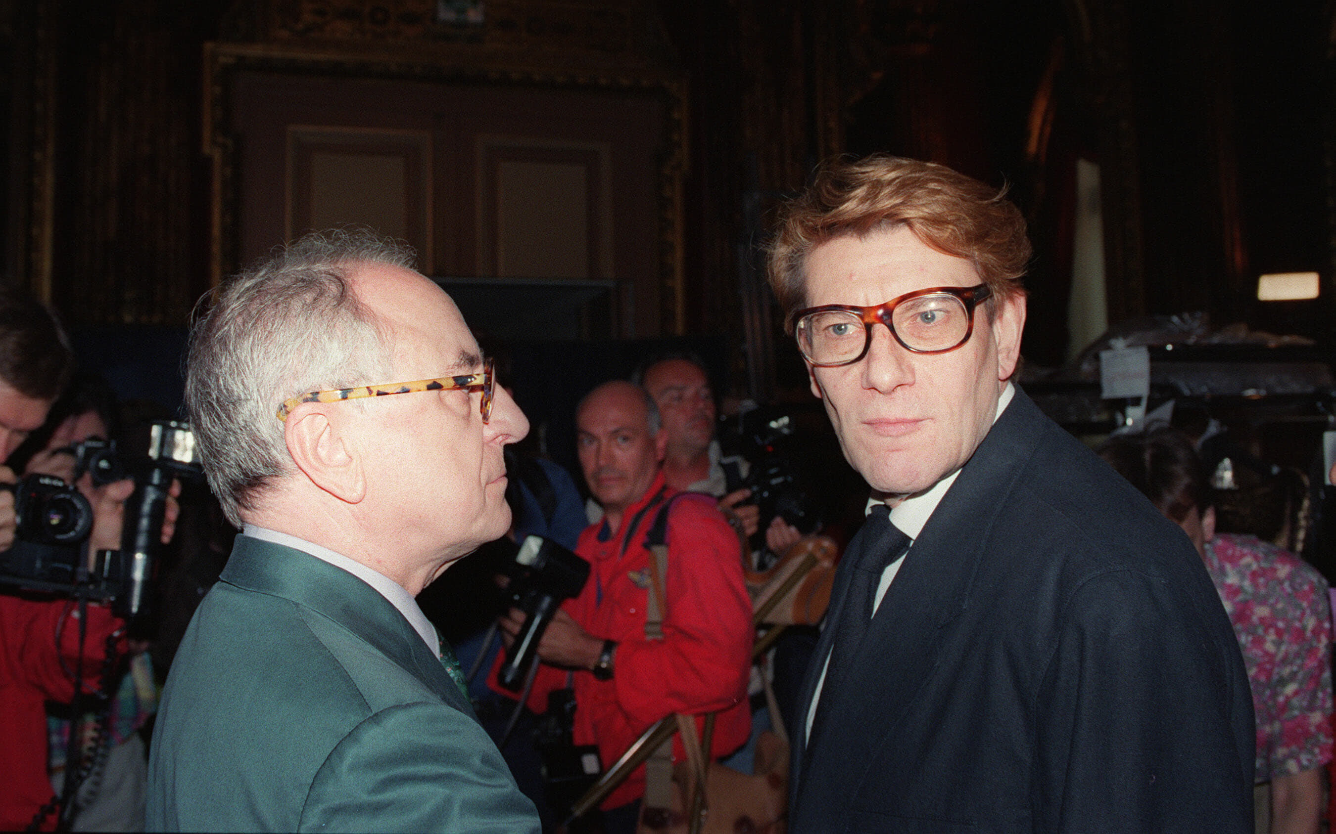 Pierre Bergé and Yves Saint Laurent in 1992