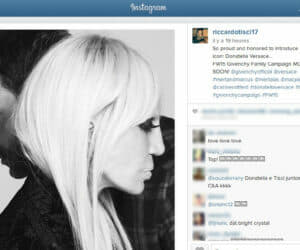 Donatella Versace for Givenchy IG