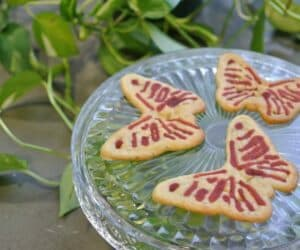 3D-printed butterfly cookies