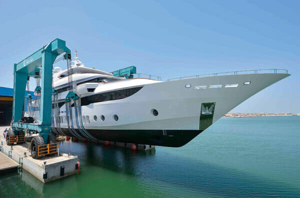 The Gulf Craft's largest manufactured Superyacht, Majesty 155 being launched