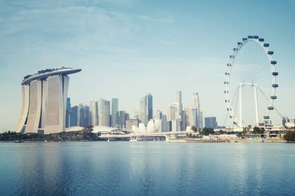 Wealth magnetism, singapore cityscape, singapore flyer, MBS