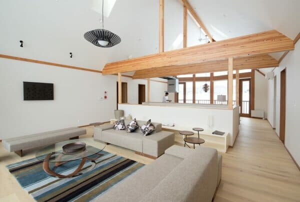 'Washi no Su' is a custom designed home which has 350sqm of living area.