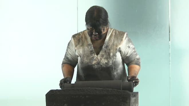 Melati Suryodarmo, 'I am a Ghost in My Own House', long durational performance, Signature Art Award, Singapore 2014.