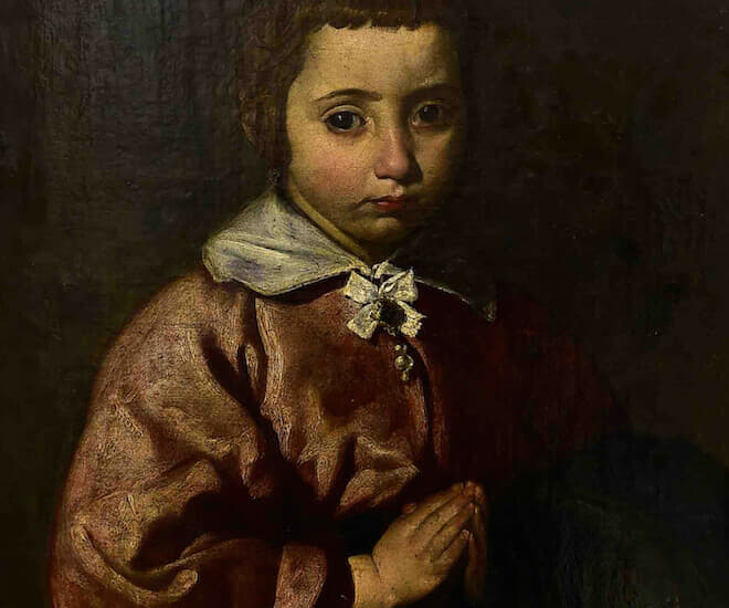 The painting 'Retrato de una nina' ('Portrait of A Girl'), believed to have been done by late Spanish artist Diego Velazquez. Image courtesy of Gerard Julien / AFP