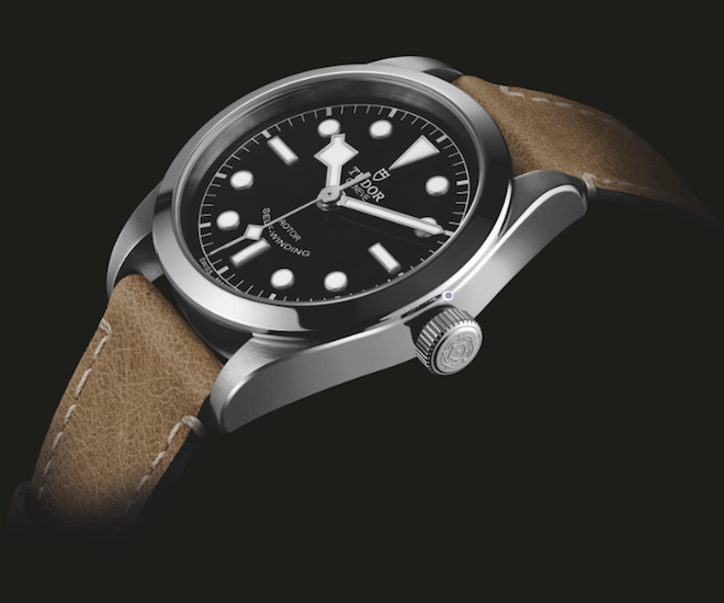 The Tudor Heritage Black Bay 36 with aged leather strap
