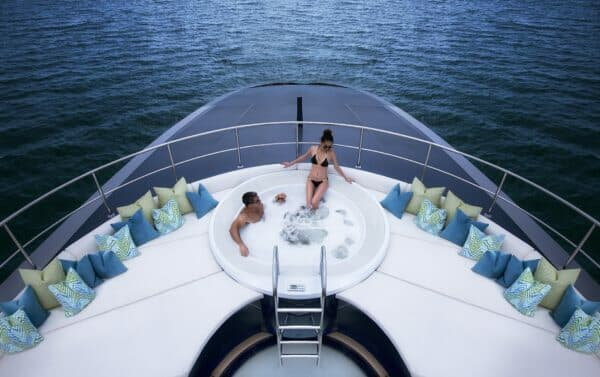 The 41m, Thailand-based Ocean Emerald is available for charter to Koh Samui