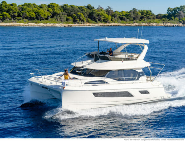 The popular Aquila 44 was shown at the Thailand Yacht Show and RendezVous in January.