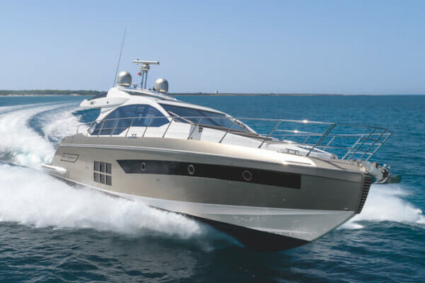 The S6 is the smallest yacht in Azimut's new-generation sports range