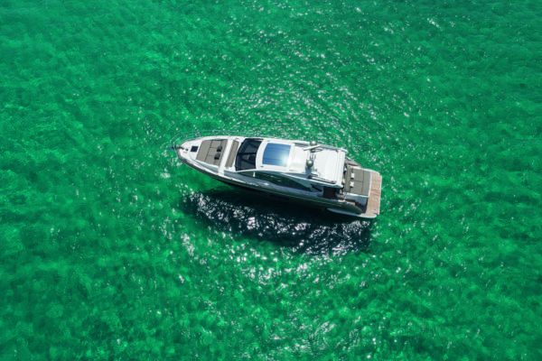 The S6 has good sunbathing areas fore and aft, and a large swim platform