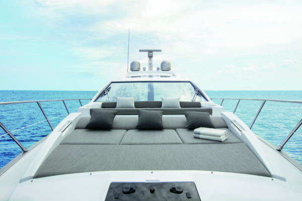 There's plenty of lounging space on the foredeck