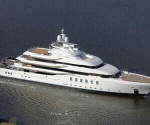 The 95m Madsummer was known as Project Fiji while in build; Photo: Carl Groll