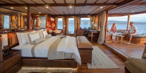 The Batavia master suite, arguably the yacht's flagship room