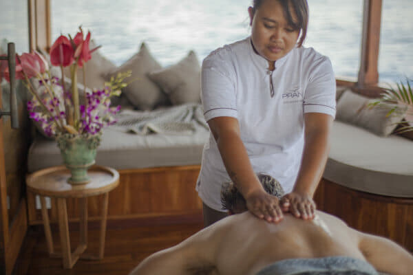 Spa therapists can work indoors or out, and even on the beach