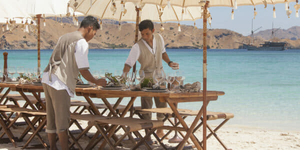 Prana can offer its famous fine dining and five-star service on the beach of your choice