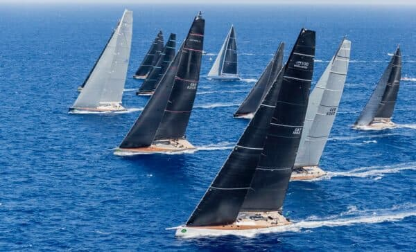 The Wally class at the 2017 Maxi Yacht Rolex Cup; Photo: Carlo Borlenghi