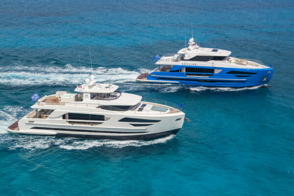 The FD85 and FD87 from the popular Fast Displacement series by Taiwan's Horizon Yachts