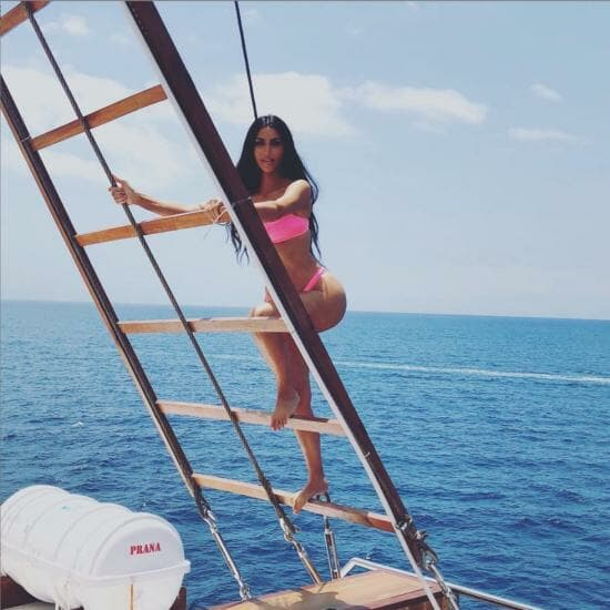 Kim Kardashian recently posted about the Kardashians' trip on Prana, Yacht Sourcing's flagship build and CA listing