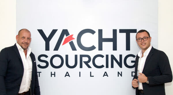 Xavier Fabre (left), Yacht Sourcing's co-founder and Director of Sales, with Nicolas Monges, General Manager of Yacht Sourcing Thailand