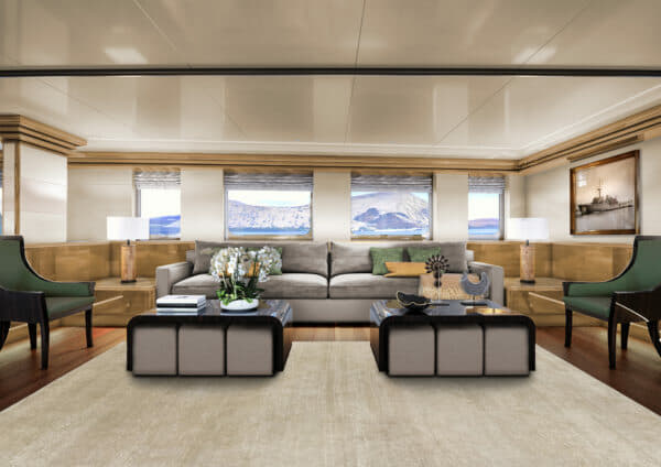 The yacht has been completely refurbished in partnership with Dutch designer Cor D. Rover