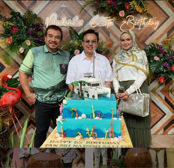 Salleh celebrated his 65th birthday this year