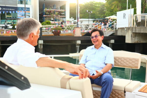 Salleh with Mike Simpson, founder and Managing Director of Simpson Marine