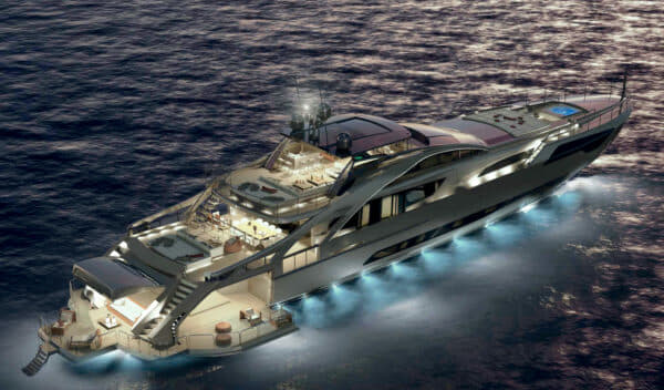 Rendering of the Pershing 140 that will arrive in Hong Kong later this year