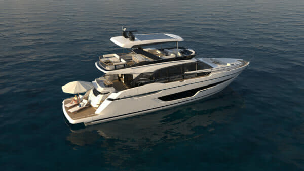 Fairline will show its flagship Squadron 68 at the Cannes Yachting Festival