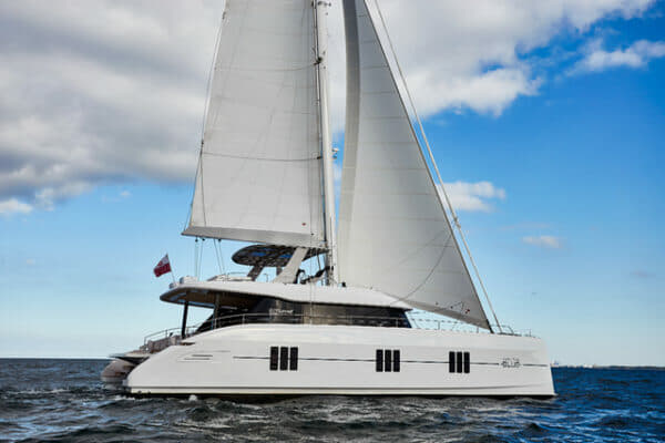 The Sunreef 60 fits in with the 50, 70 and 80 in the Polish builder's new range of sailing catamarans