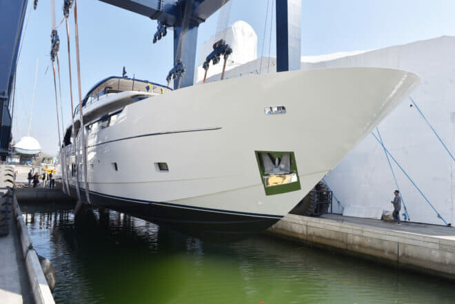 The launch of the first SL102 Asymmetric sold into Asia