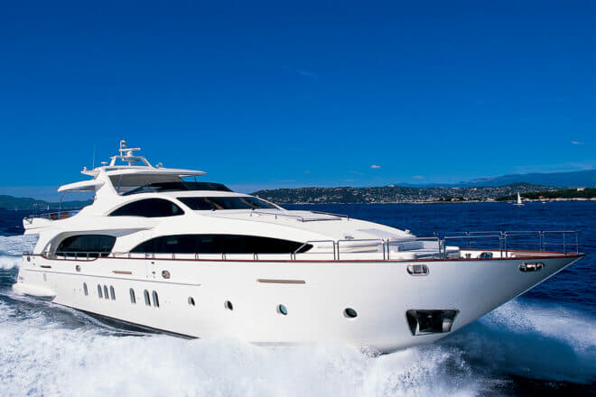 The Azimut 116 Hye Seas II can also charter outside Singapore