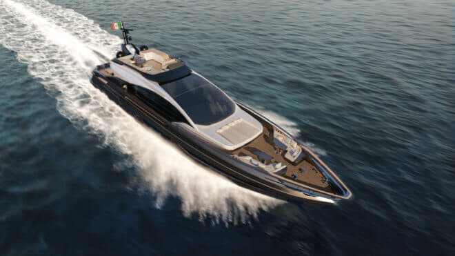 The Grande S10 will be the flagship of Azimut's new range of sports yachts, pioneered by the S6 and S7