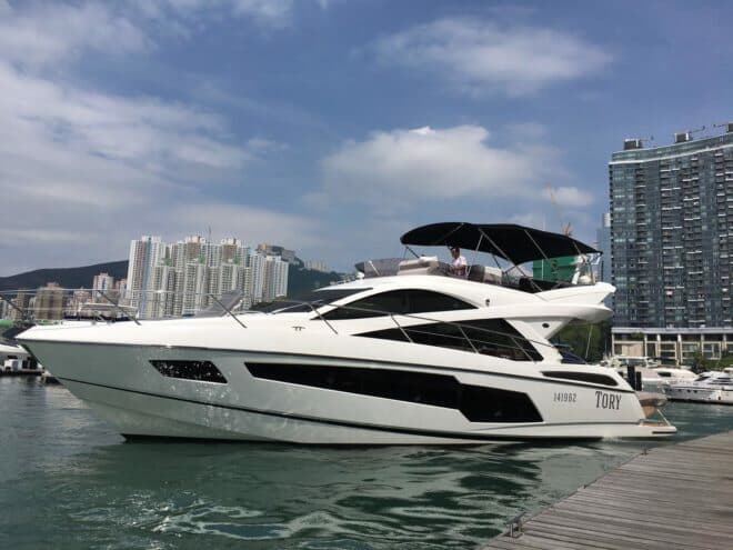 Lai's second boat was a Sunseeker Manhattan 55, also named Tory