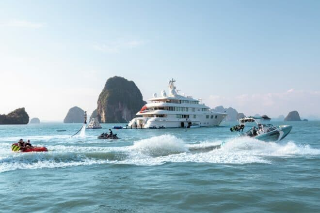 A superyacht with the right toys means you have an enormous range of ways to enjoy these pristine waters; Photo: Burgess
