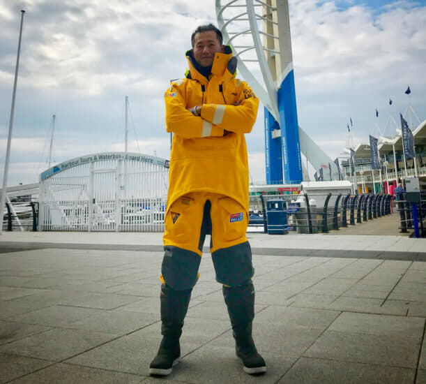Zhang Minghao has been in the UK studying for his RYA Yachtmaster Offshore course
