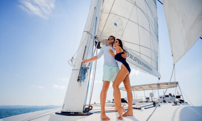 Primetime is a Lagoon 620 offered charter by Simpson Yacht Charter, he charter arm of Asia's largest yacht dealership