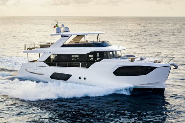 The Navetta 68 is the larger of Absolute's two new yachts at Cannes
