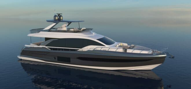 The Azimut 78 is the new flagship of the builder's Flybridge Collection