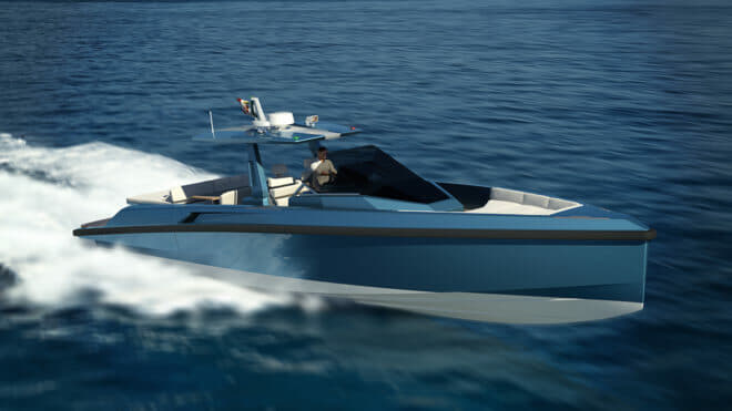 ; the 48 Wallytender is the first new model from Wally since the iconic brand was acquired by Ferretti Group