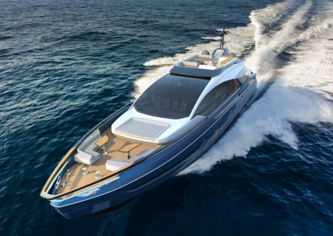 The Grande S10 is one of four world premieres from Azimut at the Cannes Yachting Festival