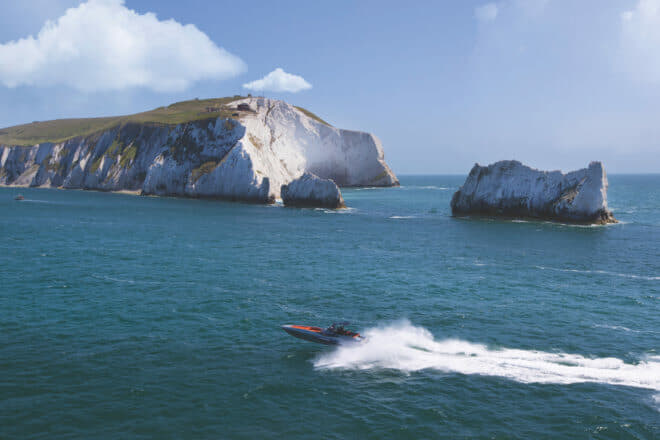 Comfortably Sunseeker's fastest boat today, the Hawk 38 is a thrilling ride in the open seas