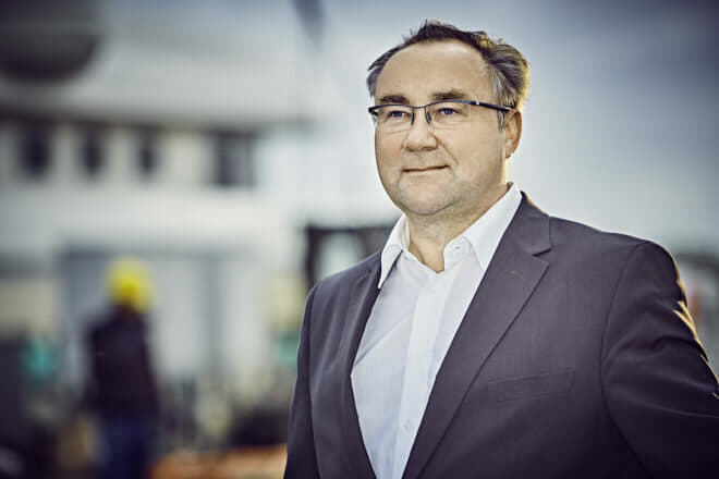 Hans Schaedla is the grandson of Henry Rasmussen, who founded the company with Georg Abeking in 1907