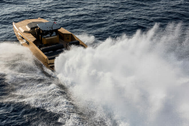 Featuring in Need for Speed, the Open 40 Sunreef Power Diamond Limited Edition has hit 56 knots with twin 860hp Mercury Racing engines