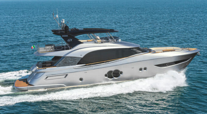 Bearing the same name as Monte Carlo Yachts' first-ever yacht in 2010, the MCY 76 is the Italian yard's third new model of 2019 and another Nuvolari-Lenard design